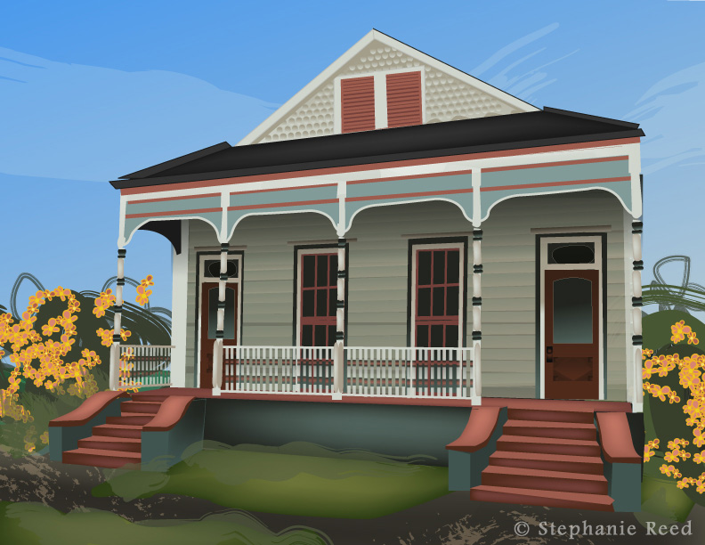 A great gift. I can make a digital illustration of a house similar to this, starting at $120 and up, depending on the level of detail.